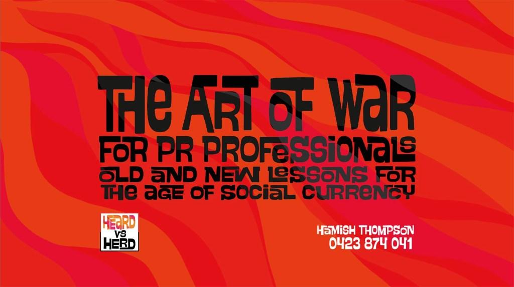 Art of War for PR Professionals
