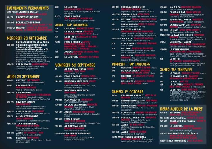 festival bière programme