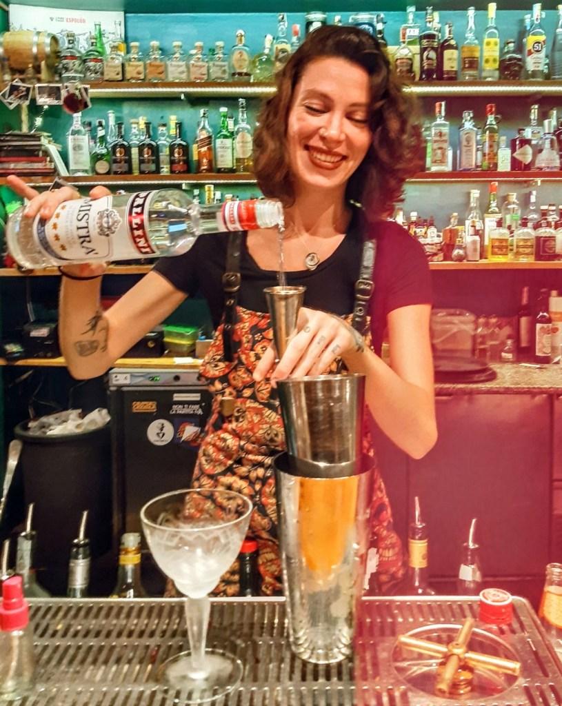 Virginie Doucet bartender del Mad Soul & Spirits di Firenze