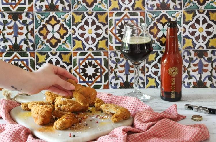 birra rossa boca de basi corti veneziane con ali di pollo speziate