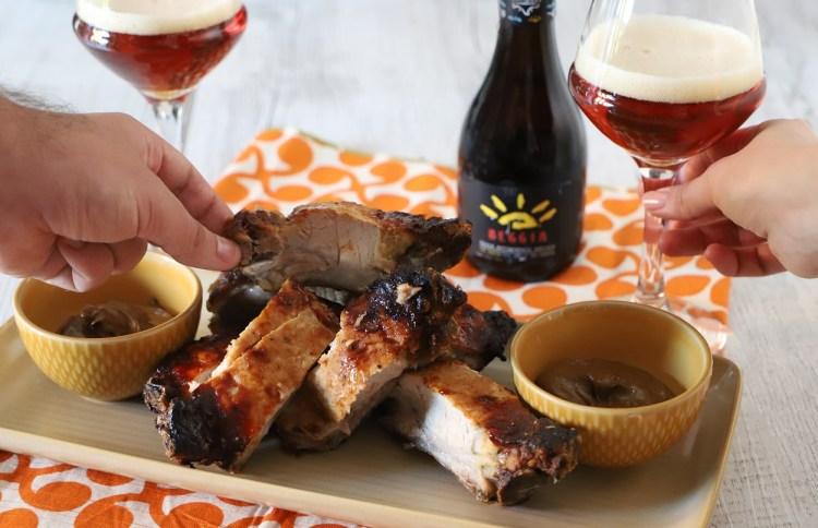 birra beggia e ribs di maiale