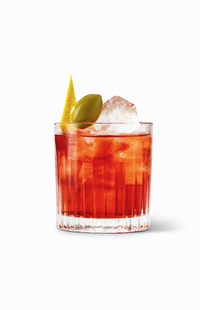Christmas negroni cocktail sabatini gin