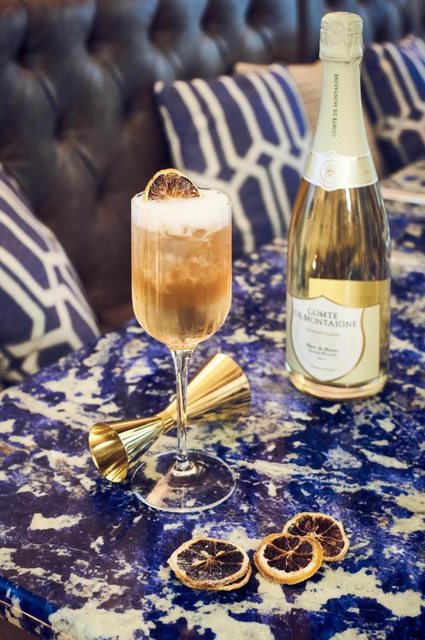 cocktail champagne Il Cavaliere del Comte