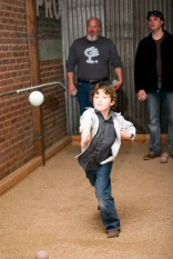 Game of Bocce Ball at Under the Rose Brewing