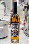 First bottle of Black Rock Rum, Tom Adams, owner of Seven Troughs Distilling Co. learned how loose the wax would be.