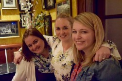 Nicole and her sisters at the rehearsal dinner