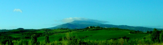 A view of the countryside on our gourmet tuscan tour