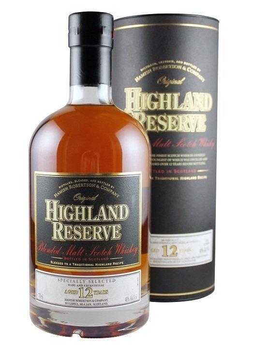 Highland Reserve Blended Malt Scotch Whisky 12 Years Old