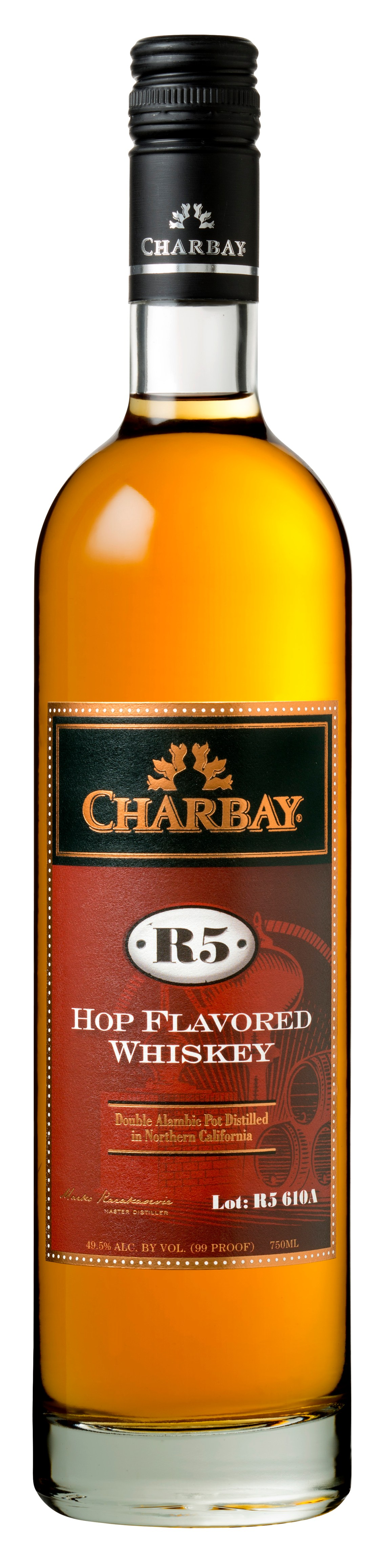 Charbay R5 Aged Hop-Flavored Whiskey Lot 610A
