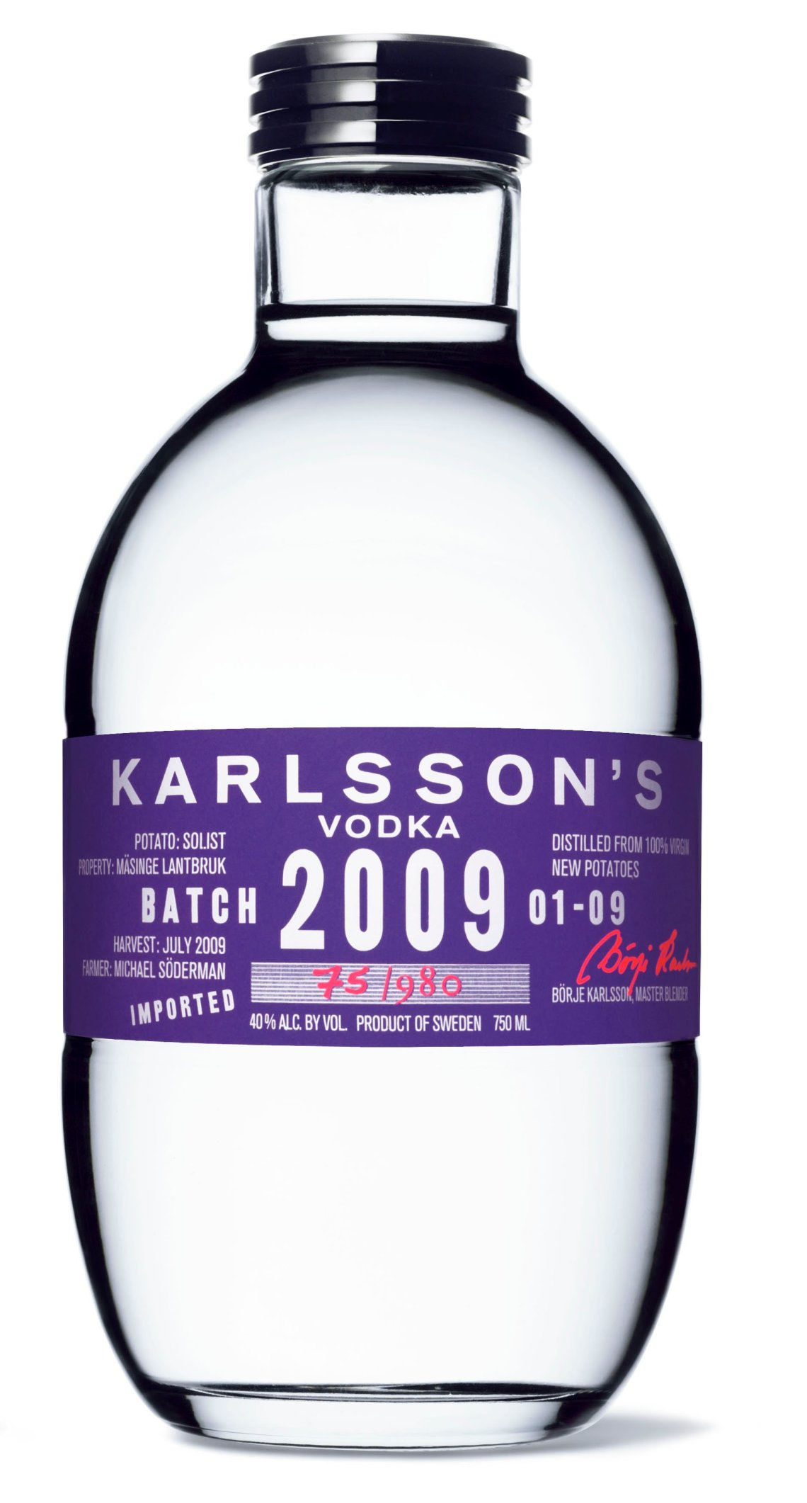 Karlsson's Gold Solist 2009 Single Vintage, Single Potato Vodka
