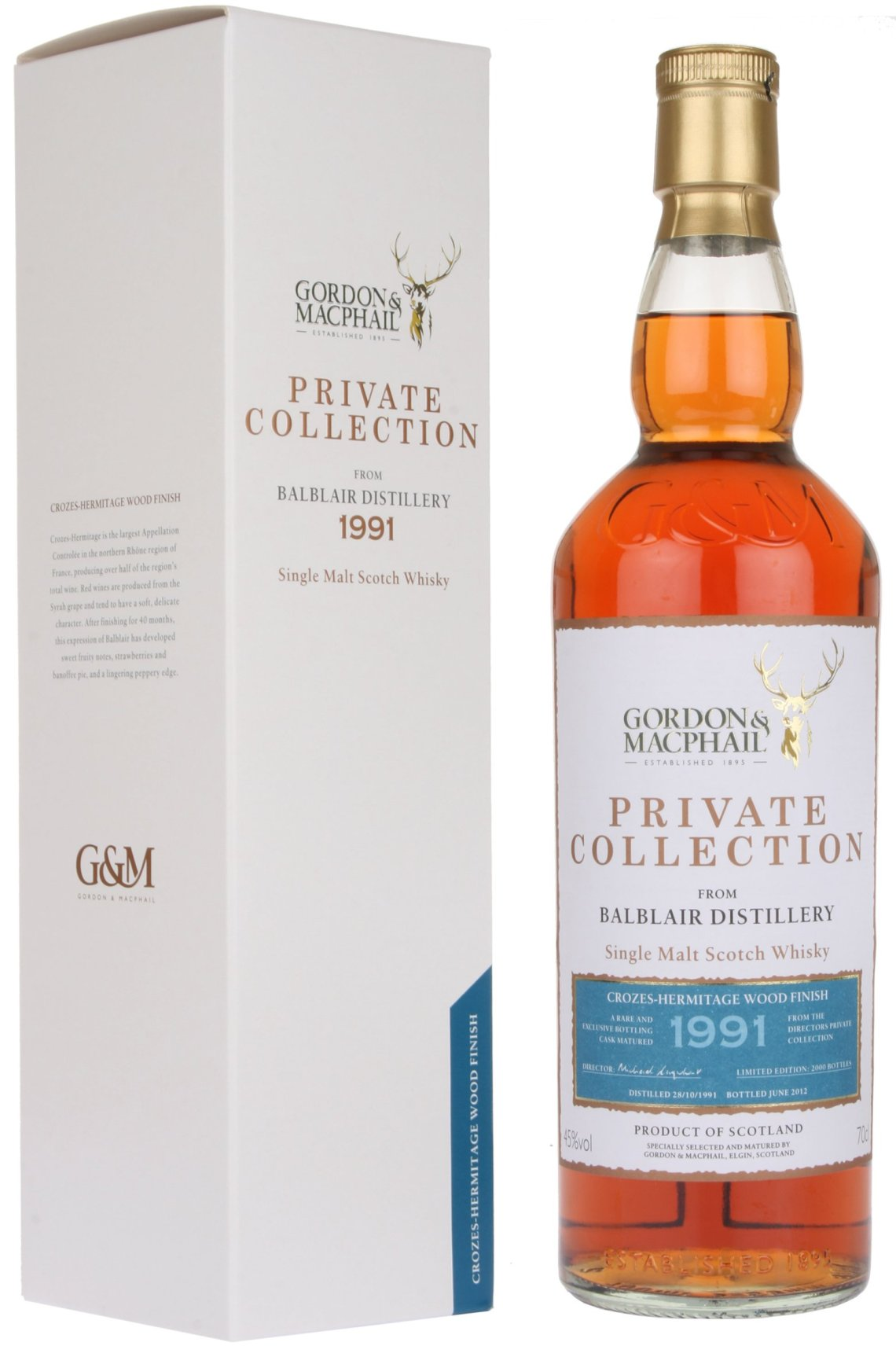 Gordon & MacPhail Private Collection Ledaig St. Joseph Wood Finish 19 Years Old