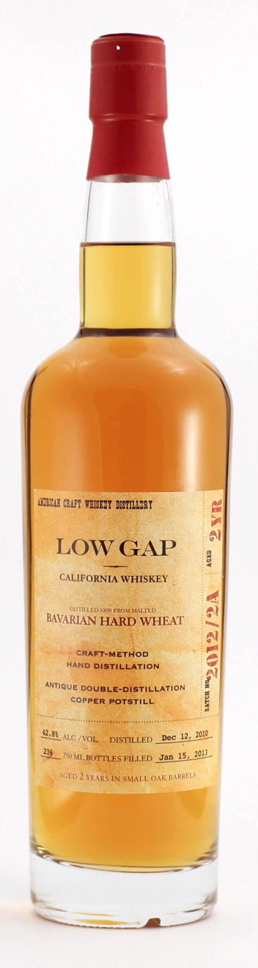Craft Distillers Low Gap Single Barrel No. 1 Whiskey