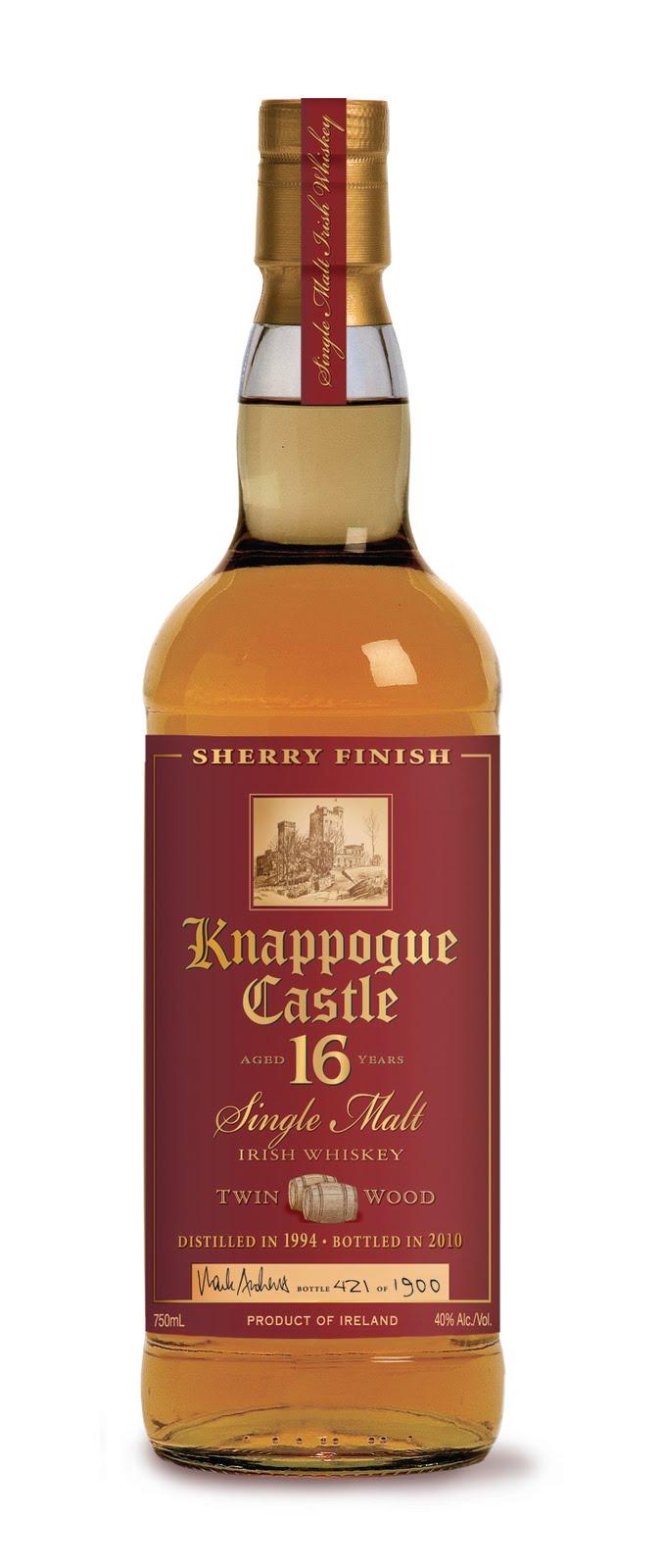 Knappogue Castle Twin Wood Single Malt Irish Whiskey16 Years Old (2014)