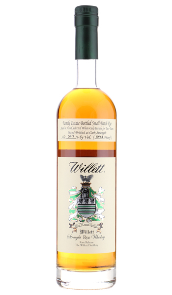 Willett Family Estate Straight Rye Whiskey 2 Years Old