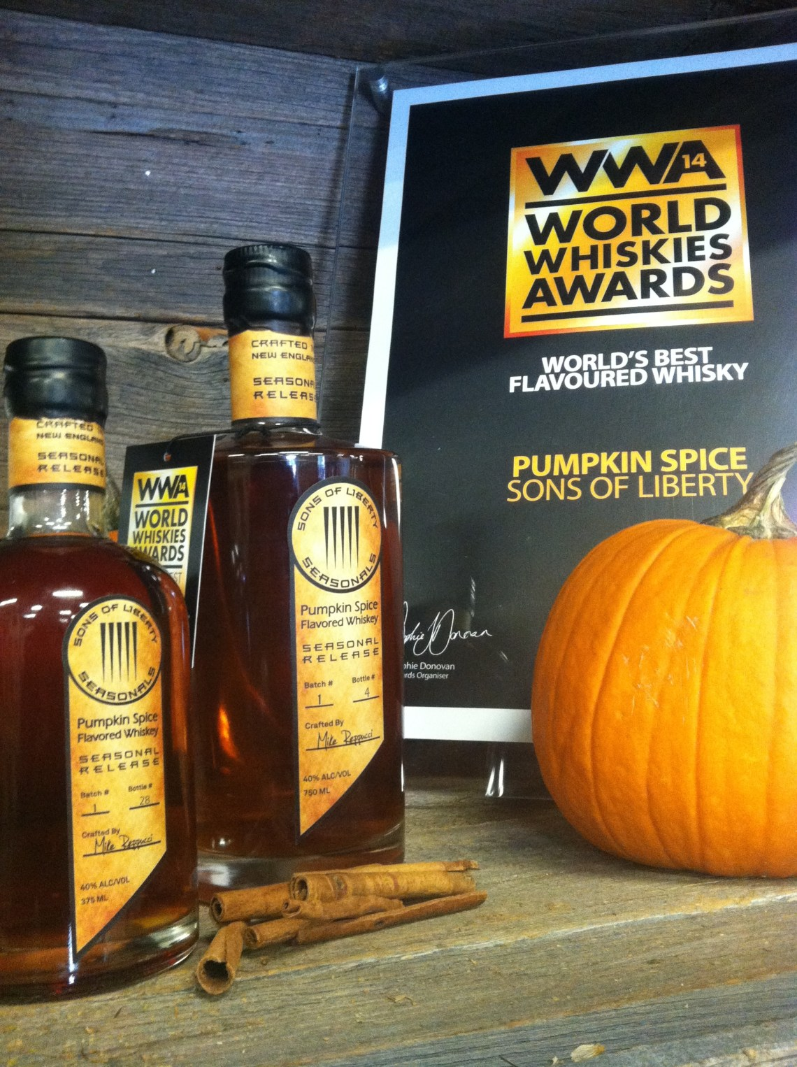 Sons of Liberty Pumpkin Spice Flavored Whiskey (2014)
