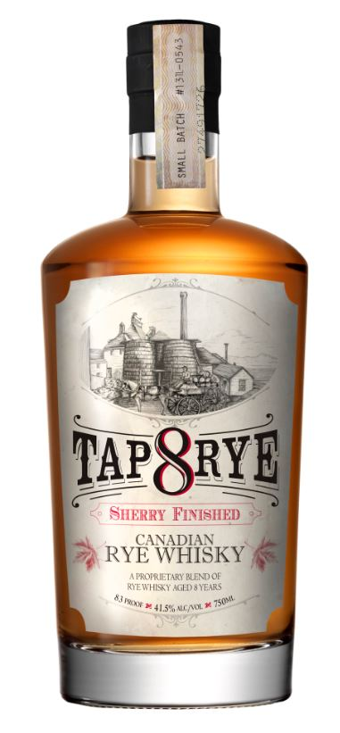 Tap Rye Sherry Finished Canadian Rye Whisky 8 Years Old