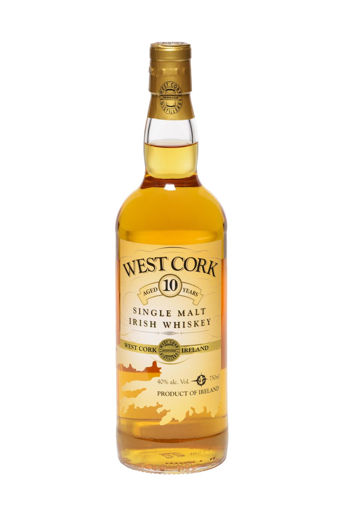 West Cork Single Malt Irish Whiskey 10 Years Old