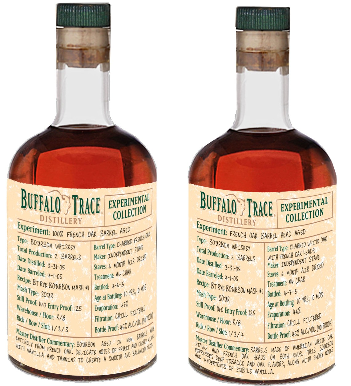 Buffalo Trace Experimental Collection 10 Year Old 100% French Oak Barrel Aged Bourbon
