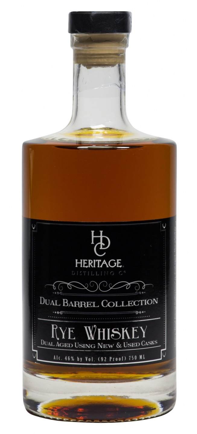 Heritage Distilling Dual Barrel Collection Bourbon Whiskey