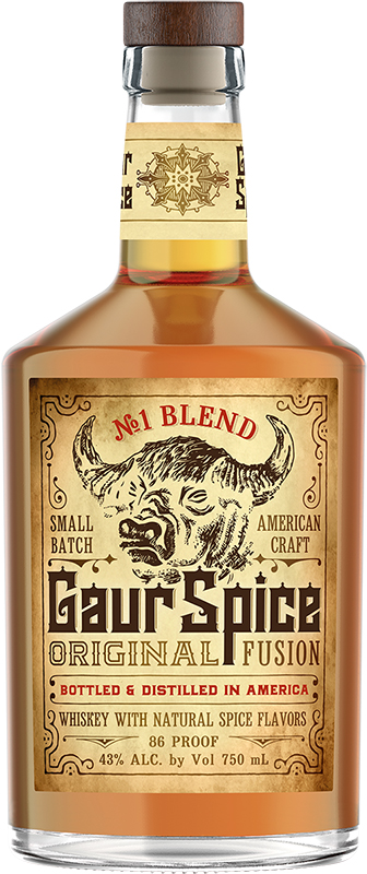 Gaur Spice Original Fusion Spiced Whiskey No. 1 Blend