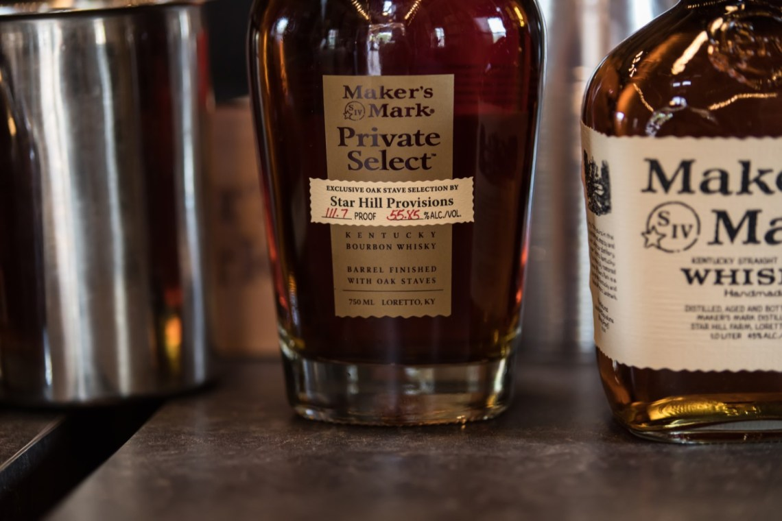 Maker's Mark Private Select for Star Hill Provisions