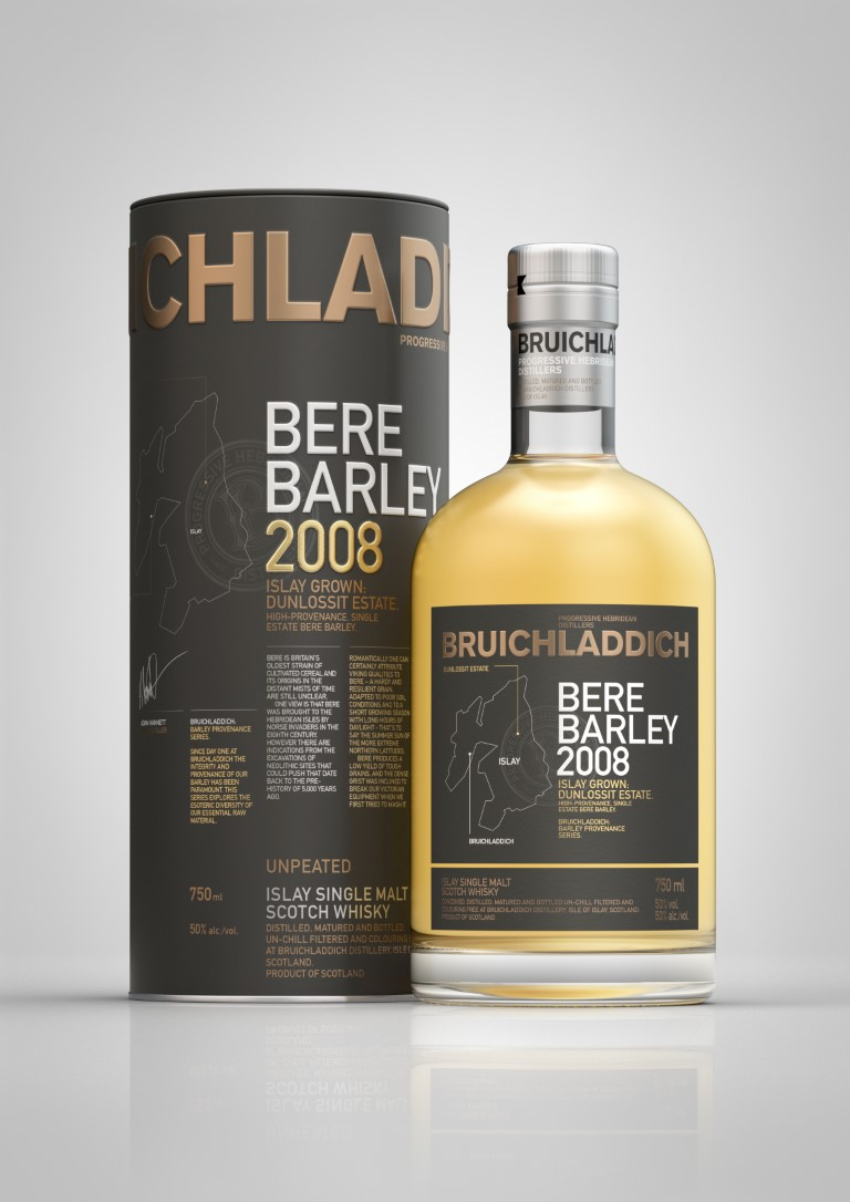Bruichladdich Bere Barley 2008 Islay Grown Dunlossit Estate 9 Years Old