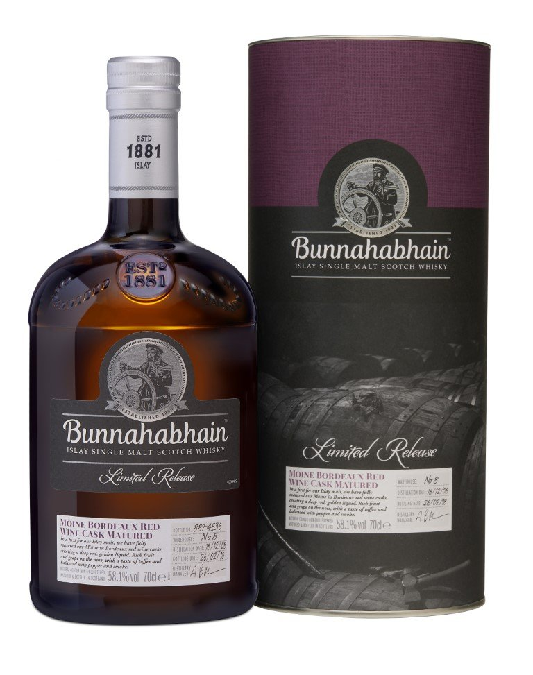 Bunnahabhain Moine Bordeaux Red Wine Cask Matured 2008