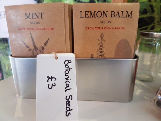 Botanicals for sale in the gift shop at the Bruichladdich distillery on the Scottish island of Islay