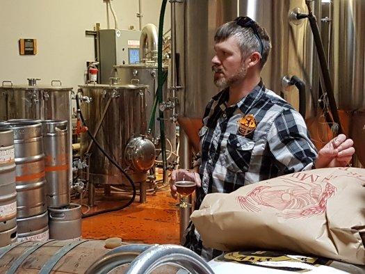 Nathan Friedman at Wanderlust Brewing in Flagstaff, Arizona