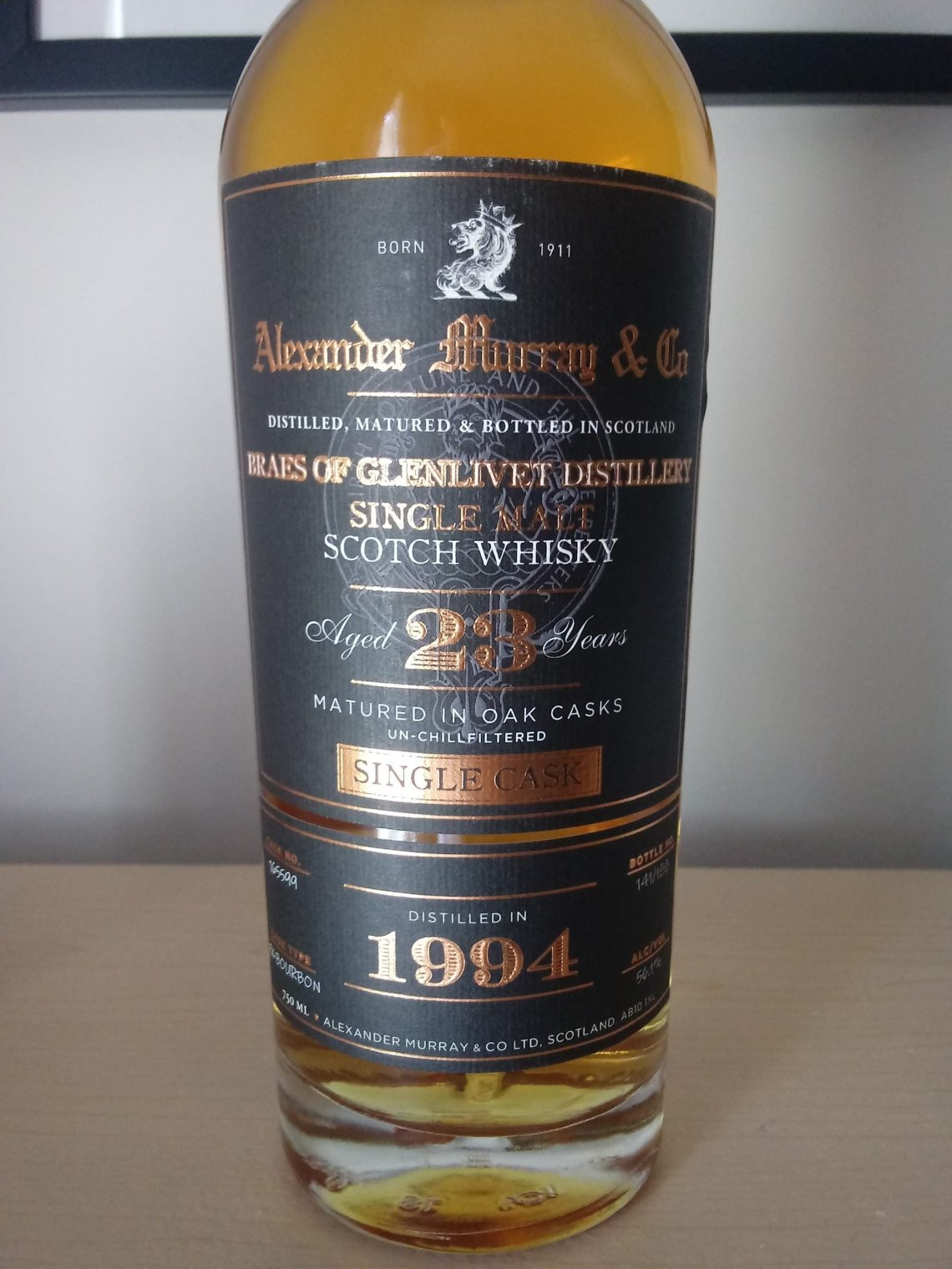 Alexander Murray & Co. Braes of Glenlivet Single Cask 23 Years Old