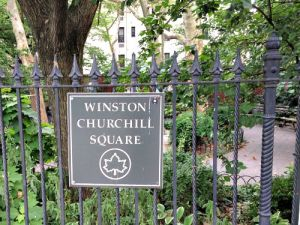 Winston Churchill Square Sign