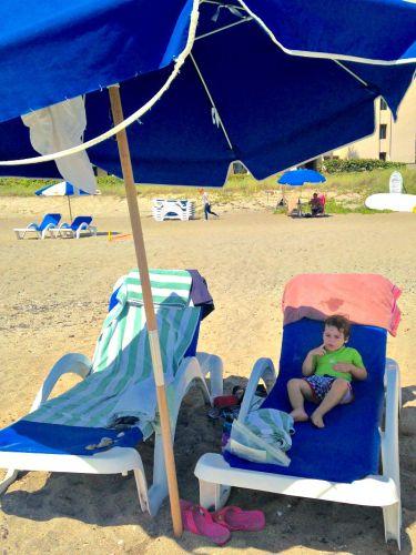 Relaxing at Jensen Beach