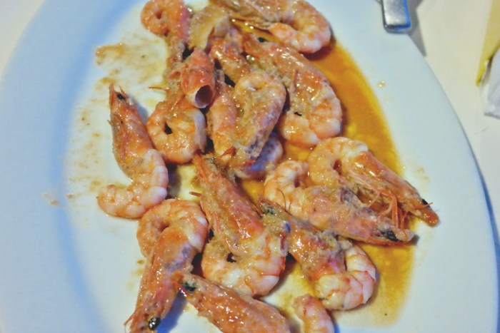 Shrimp al ajillo Playa Caribe