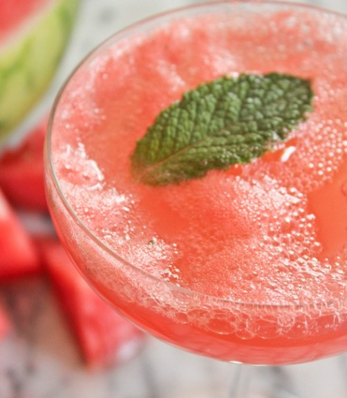 watermelon champagne fun summer cocktail
