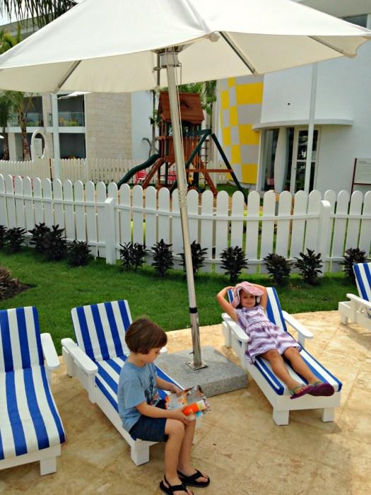 Lounging at the Nickelodeon Resort Punta Cana