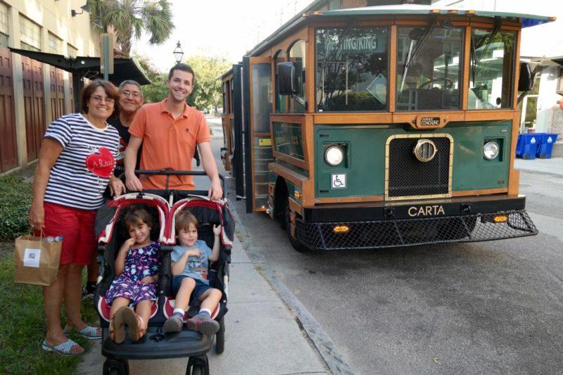Charleston Trolley stop