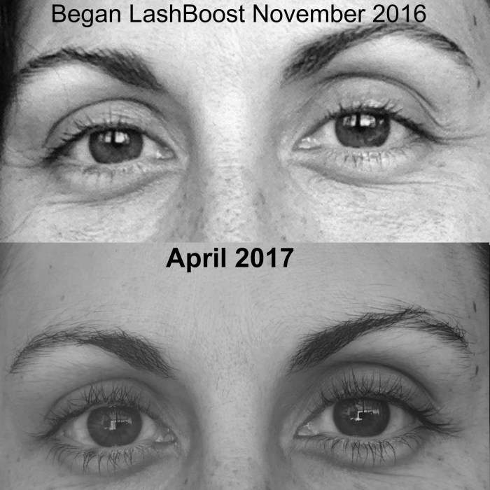 Lash Boost before & after