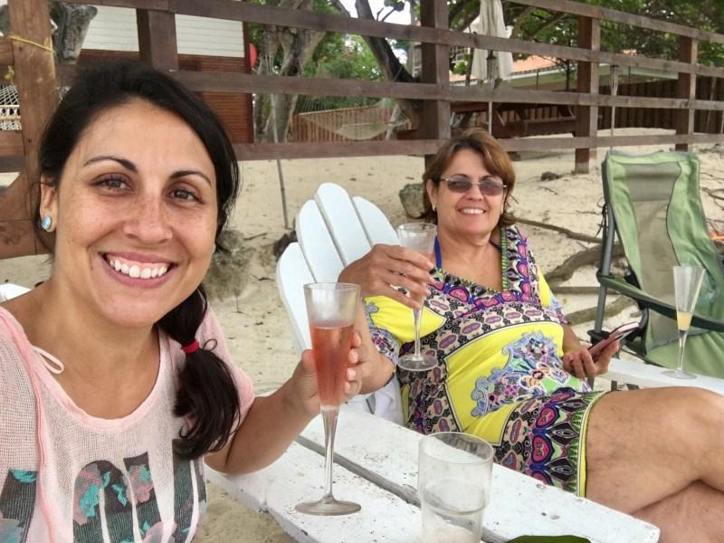 morning mimosas in Punta Rucia