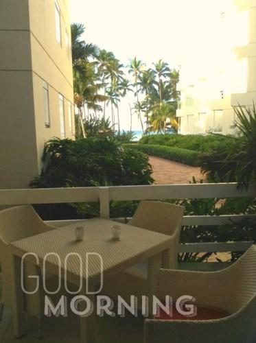 beach front apartment at Club Hemingway terrace