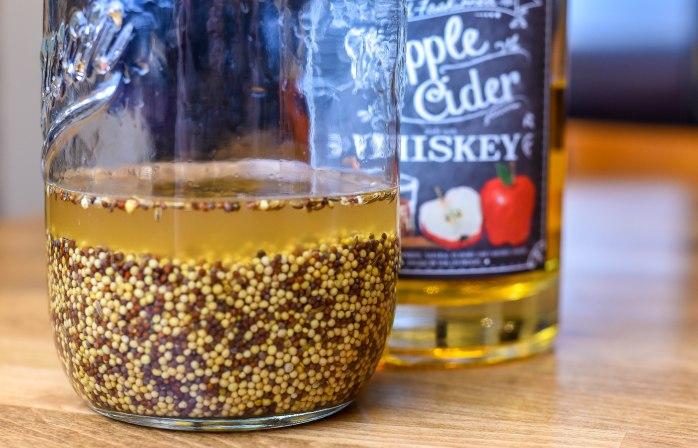 Caraway Whiskey Mustard soaking seeds