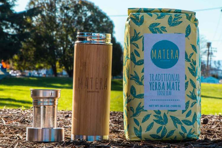 matherma bottle with 1 kilo bag of yerba mate for sale