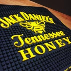 tapis de bar jack daniel s honey carre