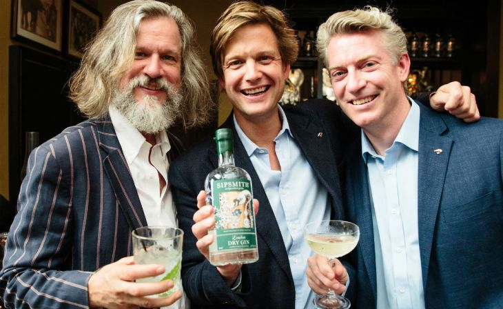 Sipsmith Gin founders Jared Brown, Sam Galsworthy and Fairfax Hall