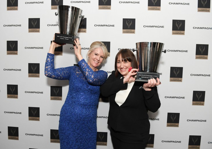 Nicole Smith and Leanne Altmann, winners of the 2018 Vin de Champagne Awards