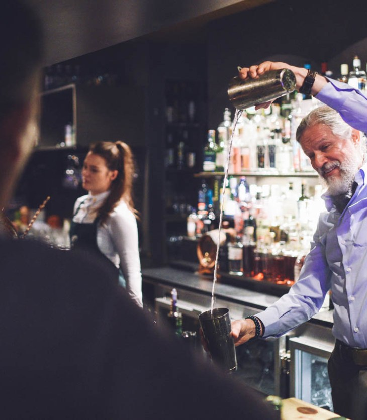 Sipsmith master distiller and cocktail historian Jared Brown at the Gin Palace in London
