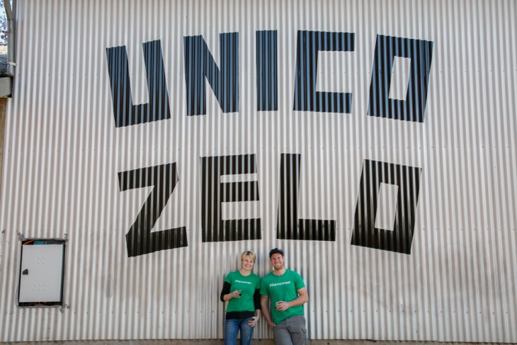 Unizo Zelo Wines founders Laura Carter and Brendan Carter