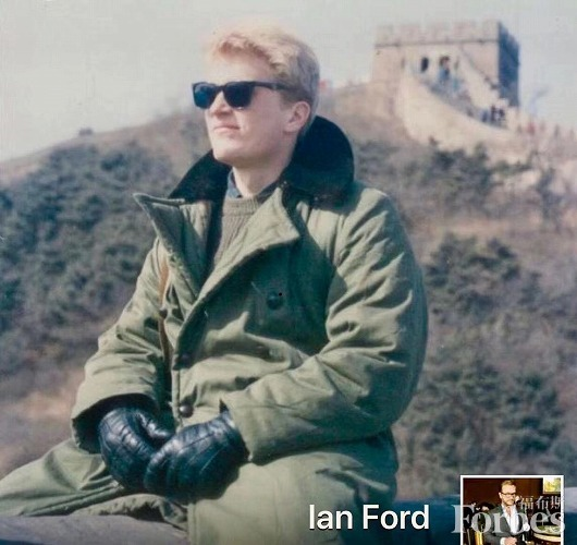 Ian Ford pictured early on in his career in the China wine and spirits market