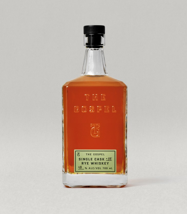 The Gospel Distillers Single Cask Rye Whiskey