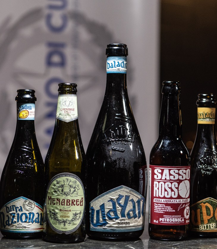 Italian craft beers selected by Michael Capaldo for the degustation