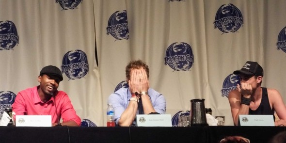 K.C. Collins, Paul Amos, and Kris Holden-Ried at Dragon*Con 2013